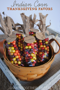 Indian Corn Party Favors from Shaken Together