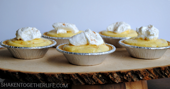 Eggnog Pudding Pies from Shaken Together