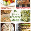 15 Favorite Freezer Meals