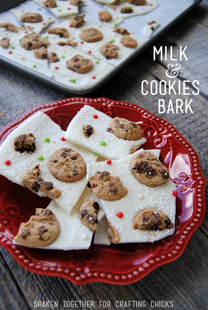 No Bake Christmas Cookies.Milk Cookies Bark