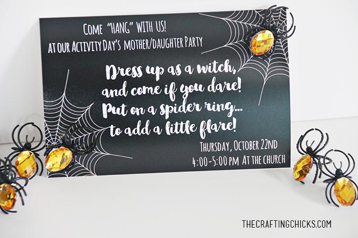 Spider Halloween Party Invitation