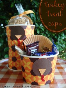 Turkey Treat Cups from Shaken Together