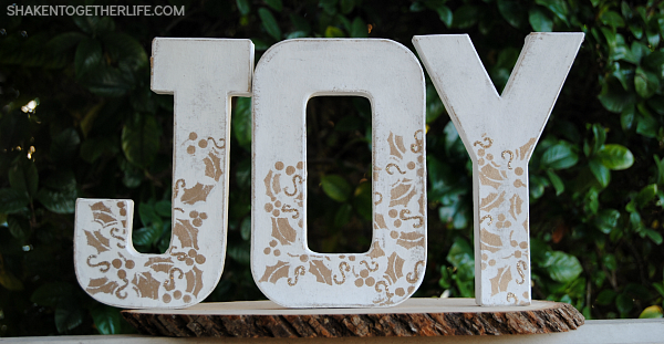 White and Gold JOY Letters from Shaken Together