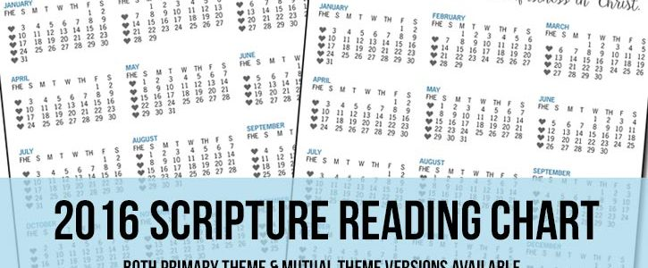 2016 Scripture Reading Chart