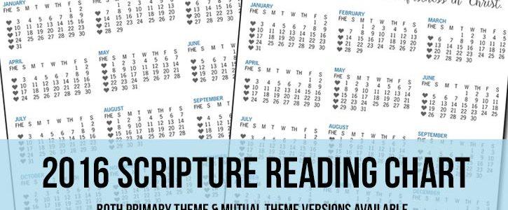 2016 Scripture Reading Chart