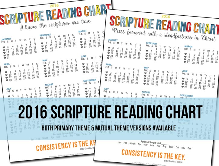 2016 Scripture Reading Charts