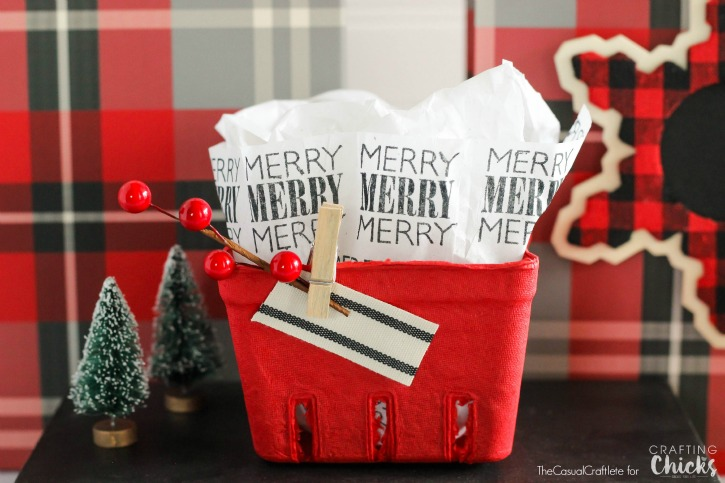 Easy Stamped Tissue Paper for gift wrapping