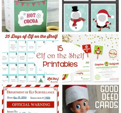 Elf on the Shelf Printables