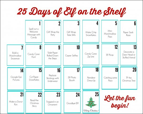 graphic relating to Elf on the Shelf Printable Props named Elf upon the Shelf Printables - The Composing Chicks