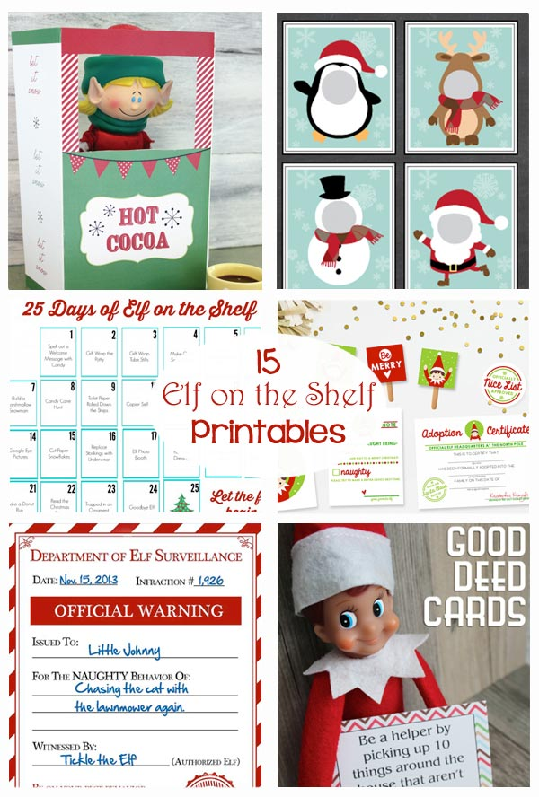 photograph about Elf on the Shelf Printable Props named Elf upon the Shelf Printables - The Producing Chicks