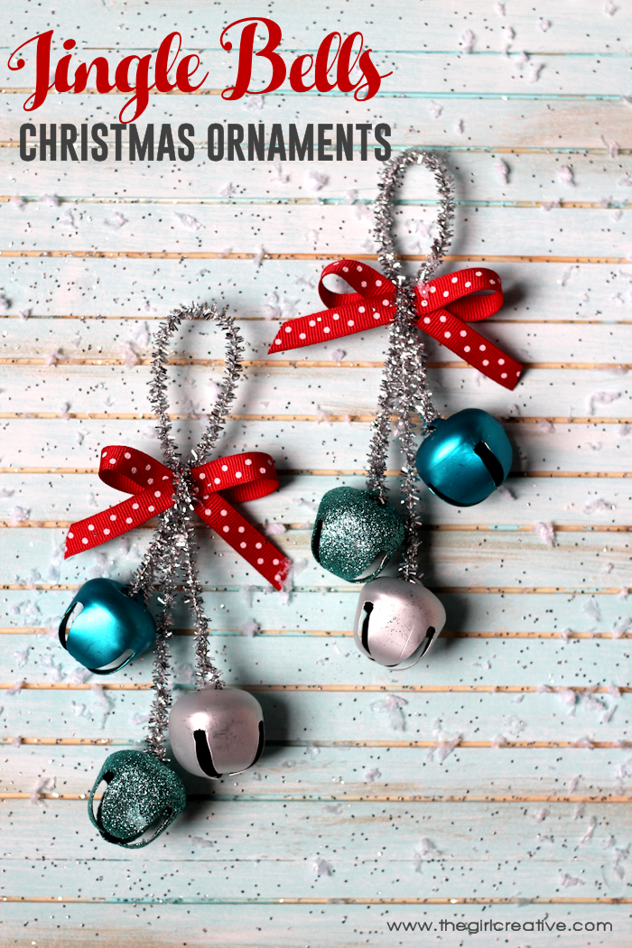Jingle Bells Christmas Ornaments are easy to make and they are super cute too! A great gift idea or to decorate your own tree.