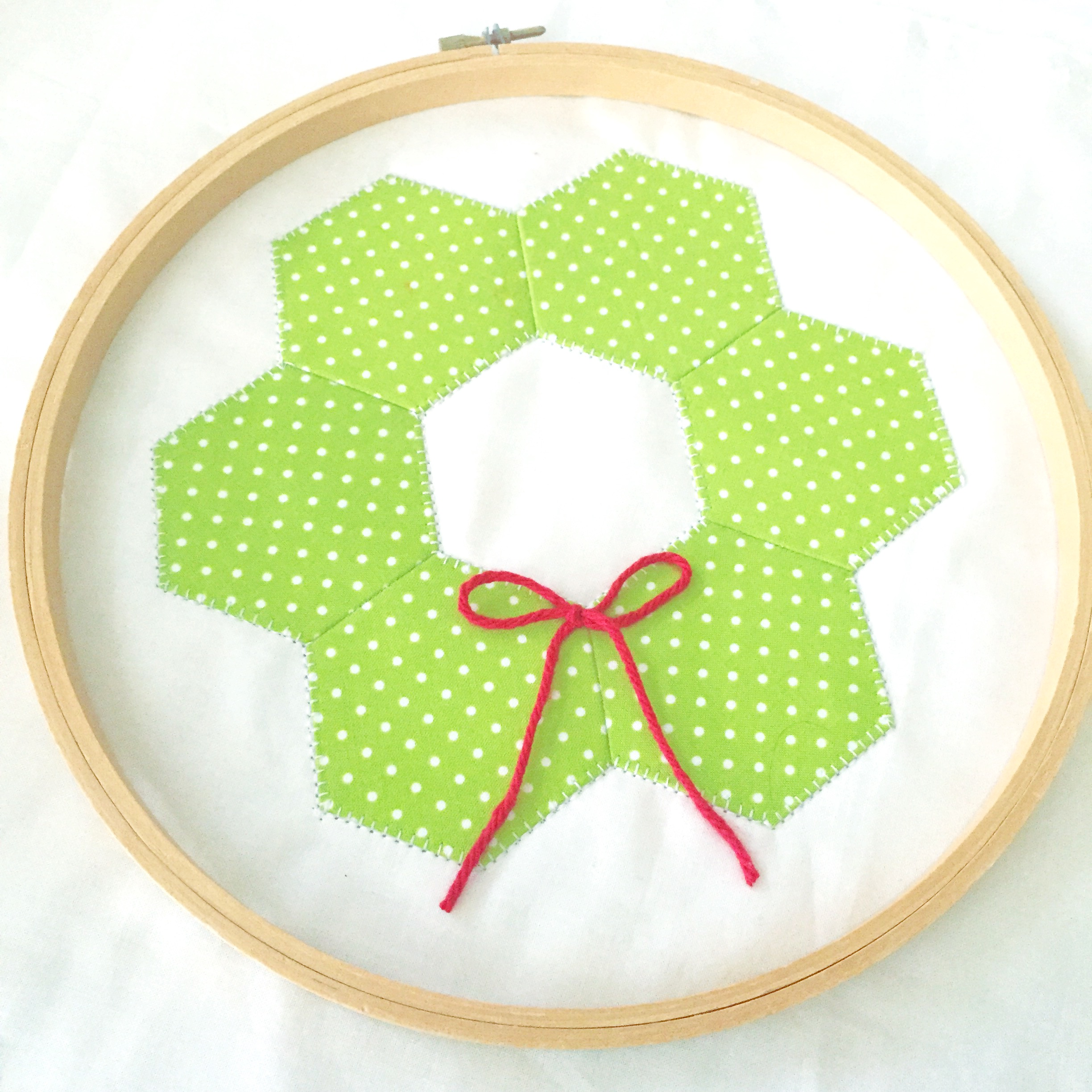 Hexagon Quilted Wreath