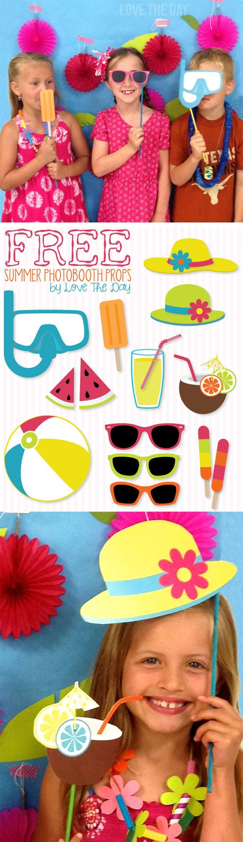 Free Printable Summer Photobooth Props