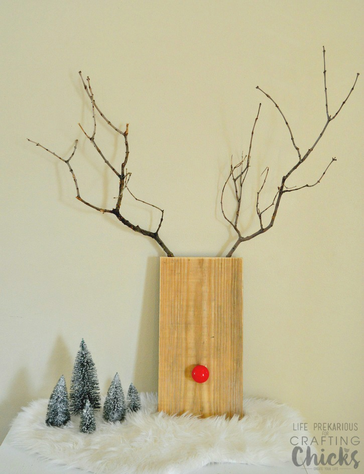 Easy Wooden Rudolph