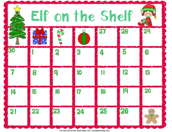 graphic about Elf on the Shelf Printable Props called Elf upon the Shelf Printables - The Producing Chicks