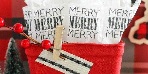 Stamped Tissue Paper