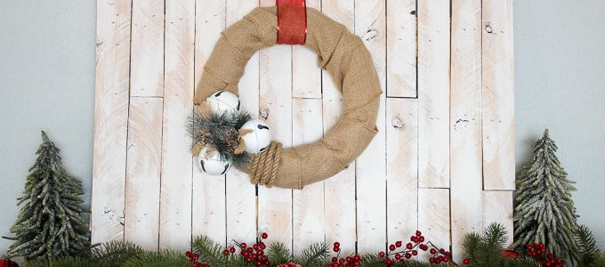 Jingle Bells Burlap Wreath