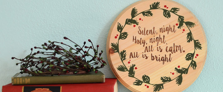 Silent Night Wood Plaque