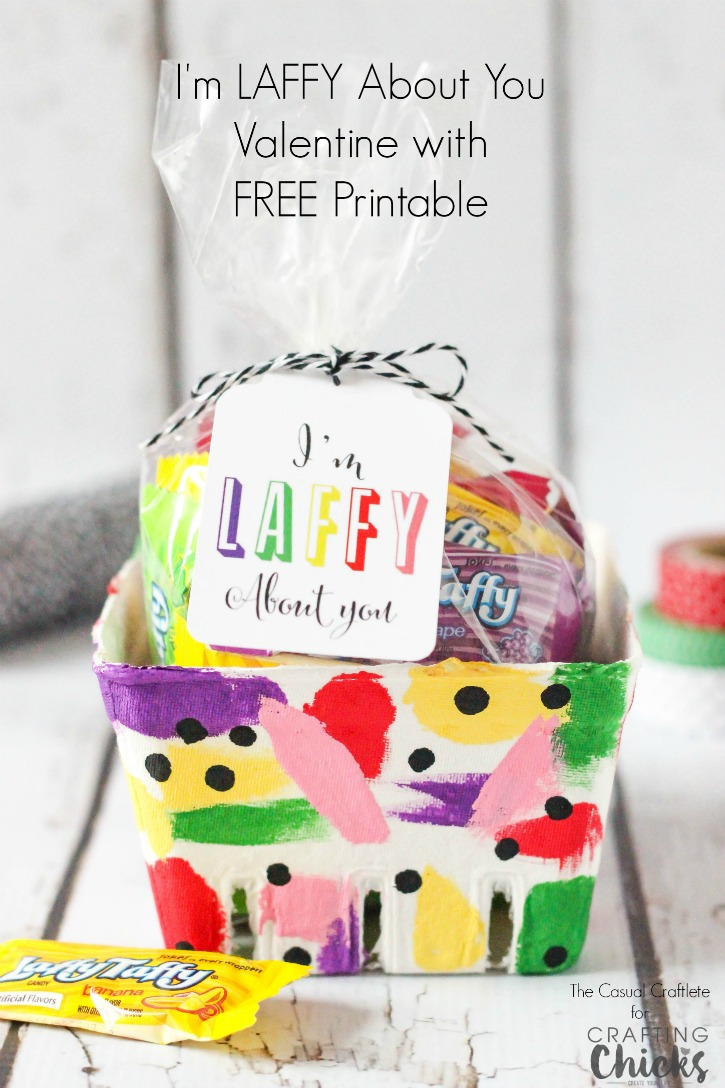 I'm LAFFY About You Valentine with FREE Printable from TheCasualCraftlete.com for TheCraftingChicks.com