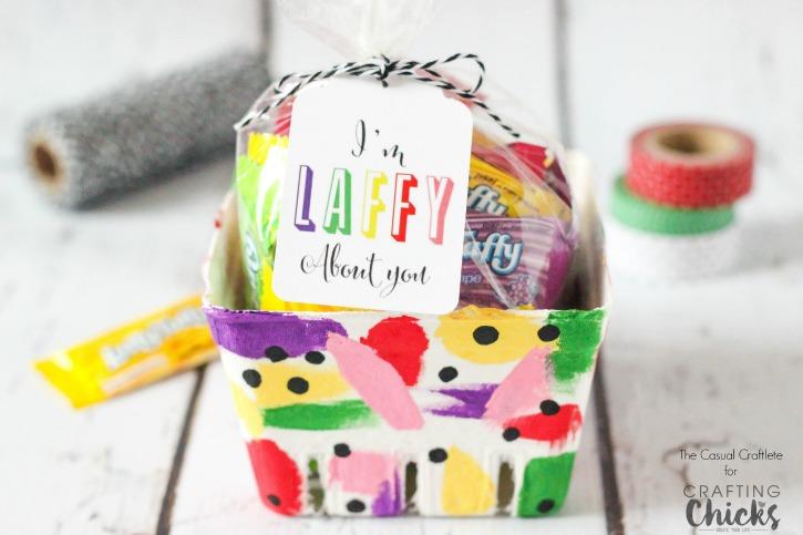 Laffy Taffy Berry Basket Valentine with FREE Printable