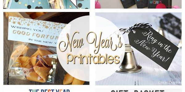 New Year's Eve Printables - party favors, gift tags, goals, banner, and so much more!