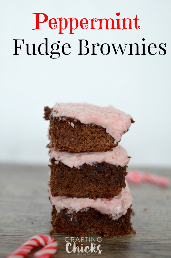 Peppermint Fudge Brownies: A Festive Treat | The Crafting Chicks