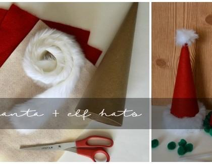 DIY Cardboard Santa Hats