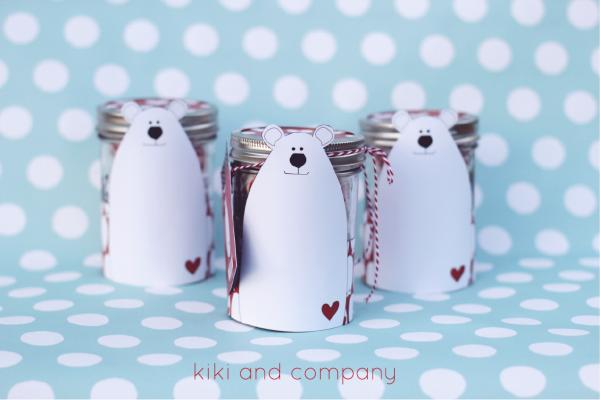 Polar Bear Jar and Tags. Cute!