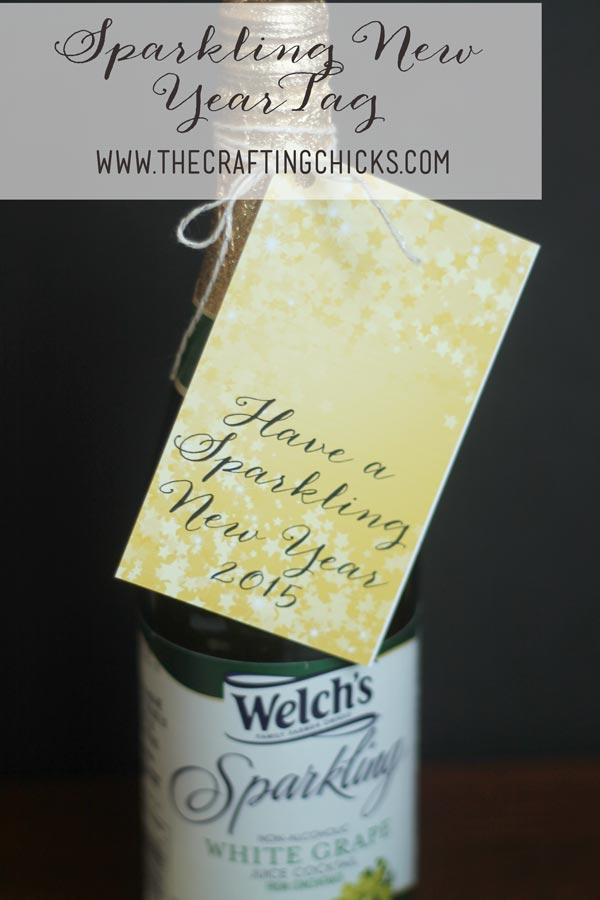 Sparkling New Year Tag