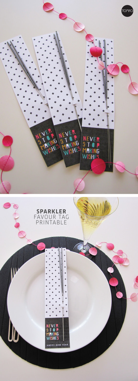 New Year's Sparkler favour