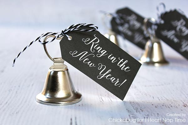 Ring in the New Year gift tag