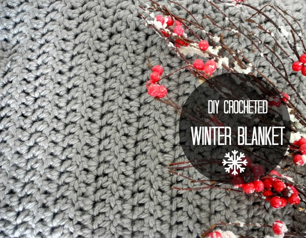 crocheted winter blanket