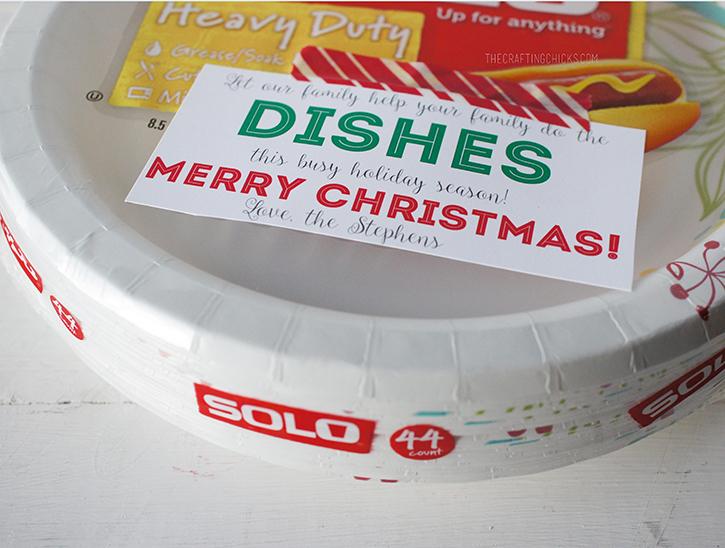 Plates Gift Tag