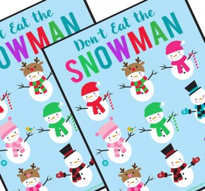 Don't Eat the Snowman Free Printable