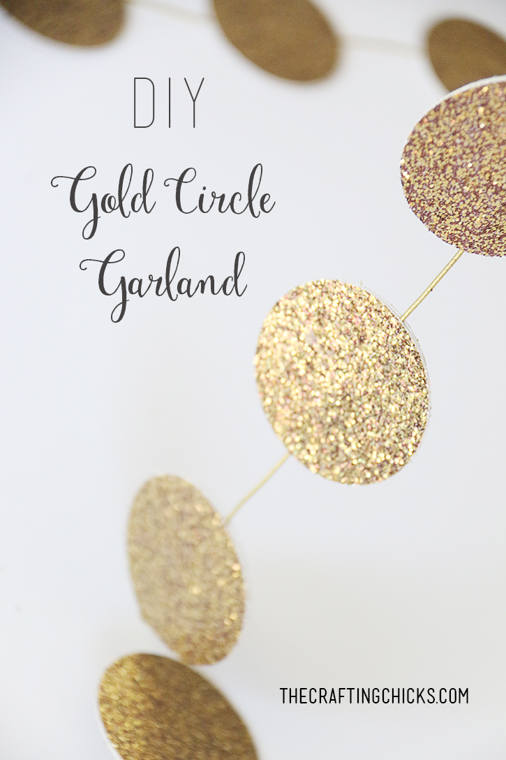 DIY Gold Circle Garland