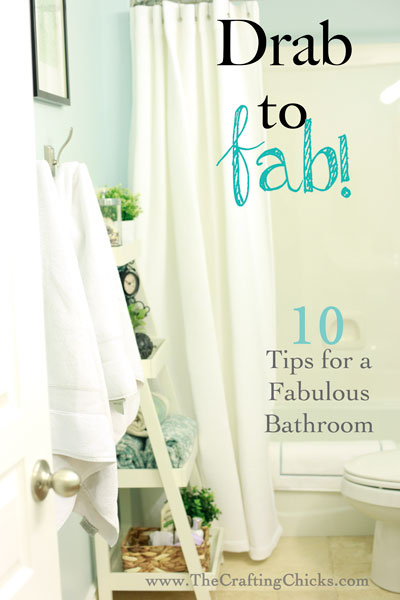 Take a bathroom from drab to fab