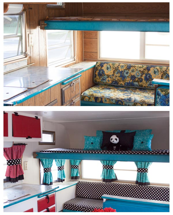 Amazing RV KITCHEN REMODEL Travel Trailer Camper Turned Glamper Renovation