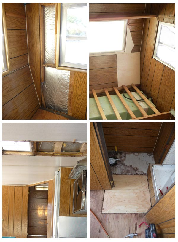 Awesome Camper Trailer Remodel Patching holes