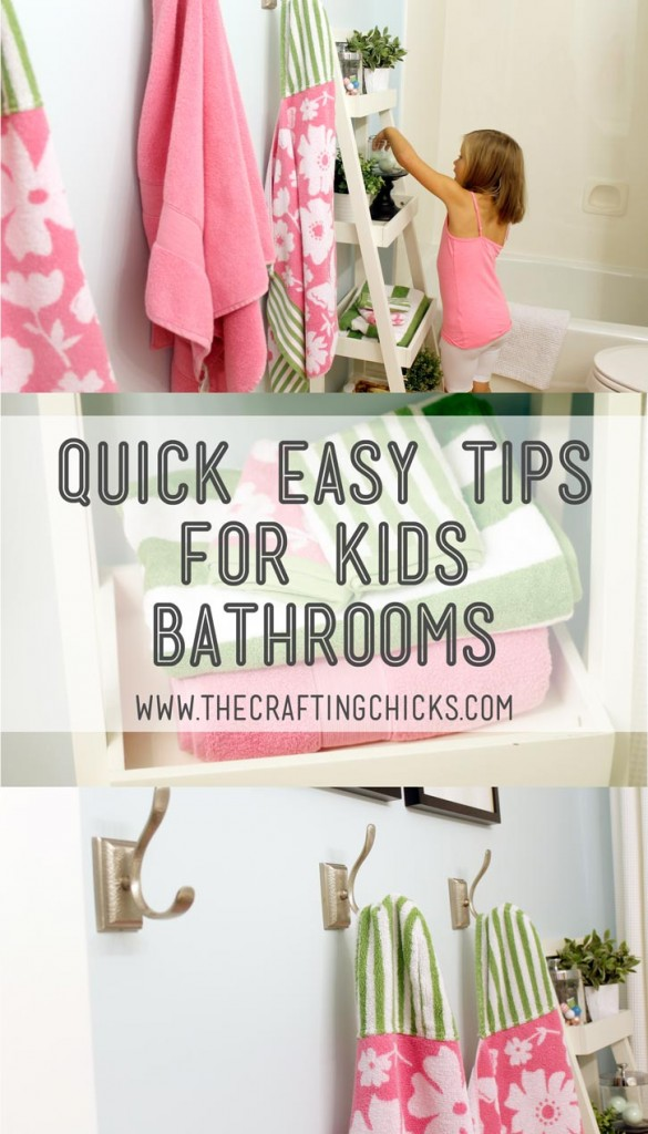 Bathroom organization the crafting chicks for Children s bathroom designs