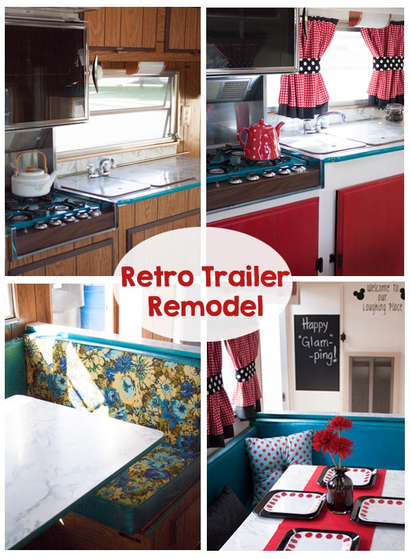 Vintage Trailer Remodel - Retro Trailer - This is SO cute! Love this glamper!!