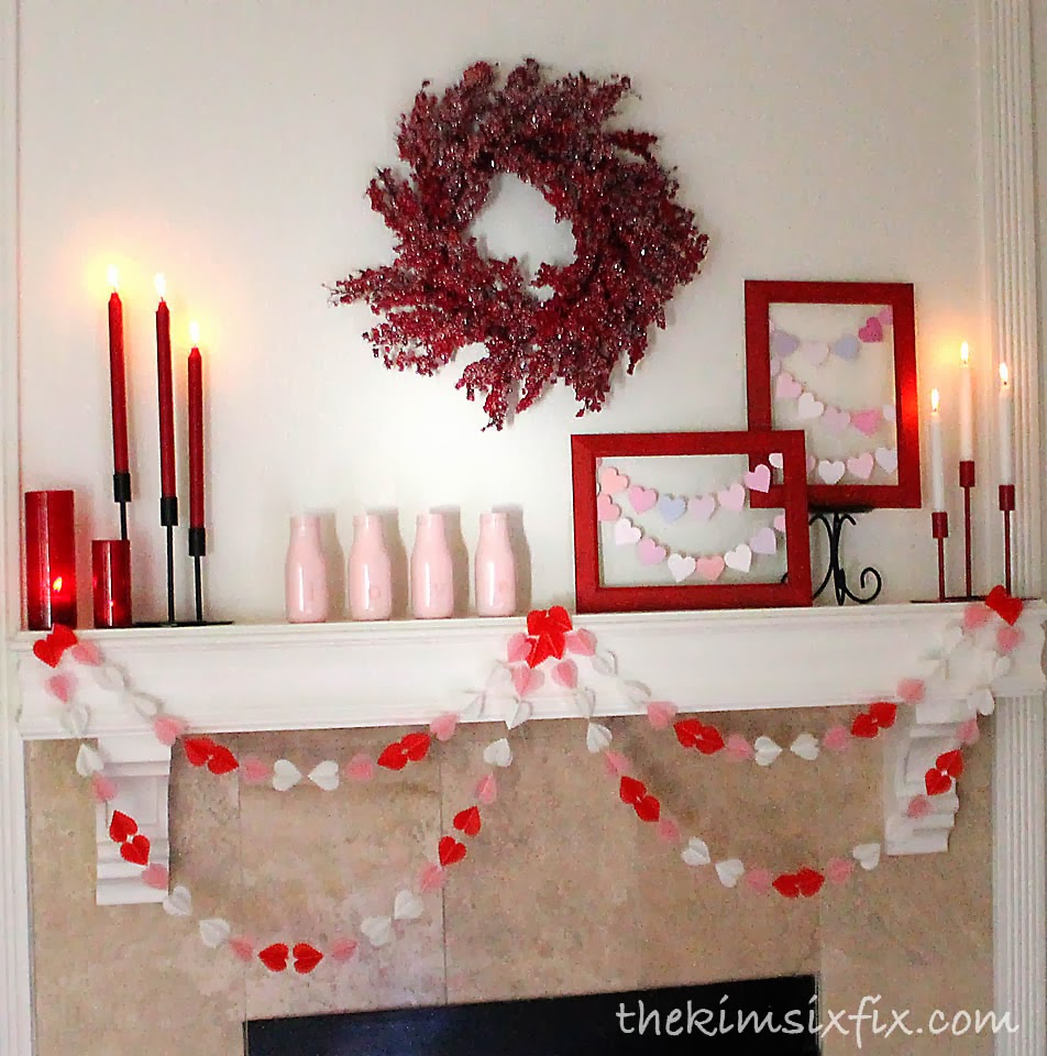 Easy valentine decor the crafting chicks for Valentine decorations to make at home