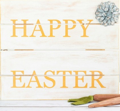DIY Happy Easter Wood Sign