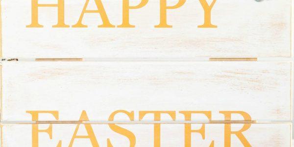 DIY Happy Easter Wood Sign