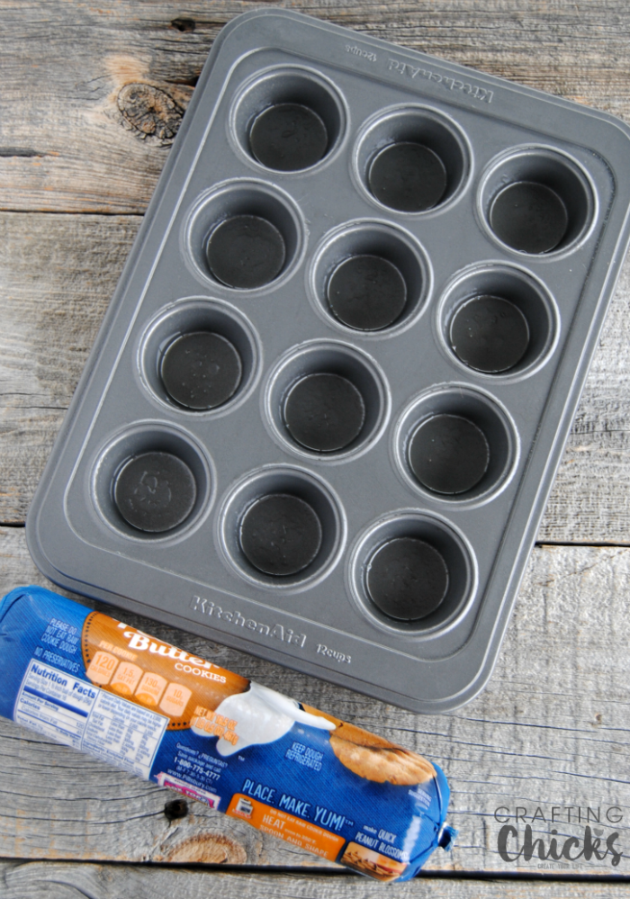 Fluffernutter Cookie Cups start with premade cookie dough - what could be easier?!