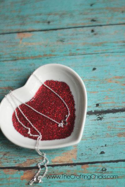 Glittery Valentine Candy Dish