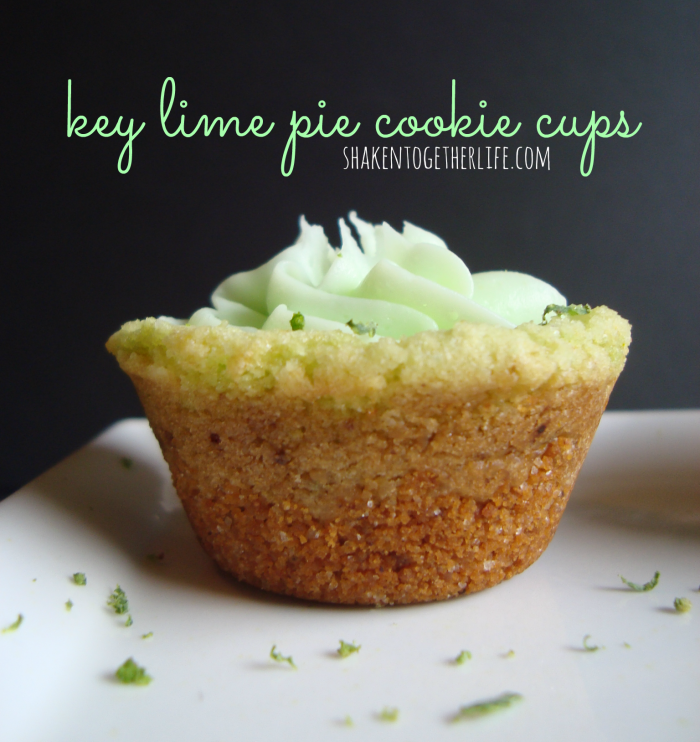 Key Lime Pie Cookie Cups from Shaken Together