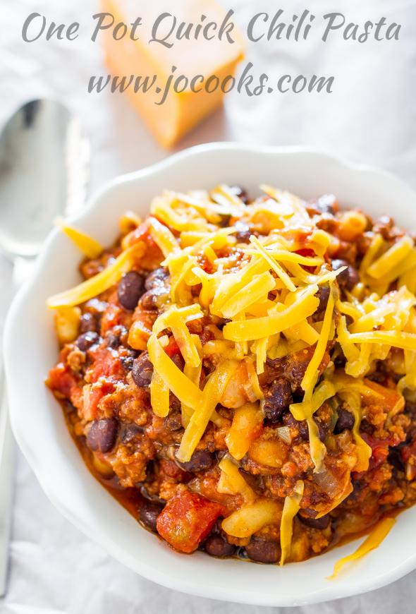 Quick Chili Pasta