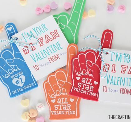 #1 Fan Valentine Foam Fingers