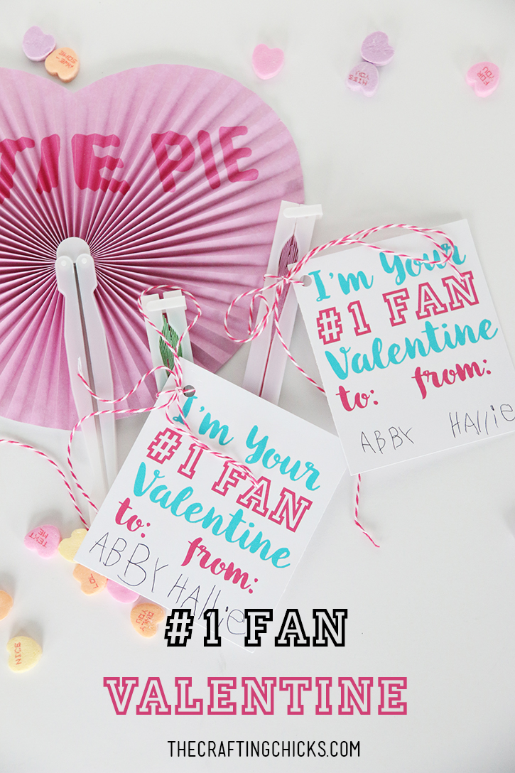 #1 Fan Valentine with Heart Shaped Paper Fans