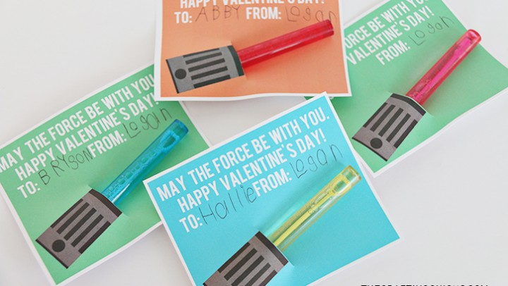 Star Wars Lightsaber Bubble Wand Valentines